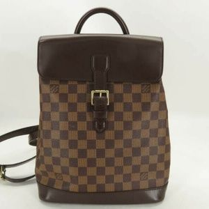 AUTH LOUIS VUITTON N51132 DAMIER SOHO BACKPACK